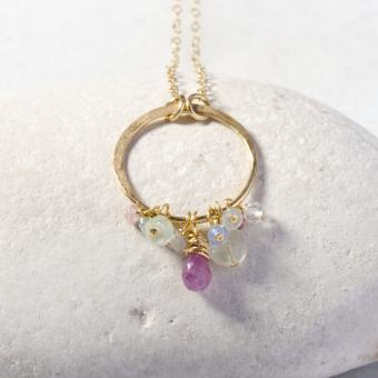 Sarah Cornwell Jewelry Gold  Gemstone Necklace