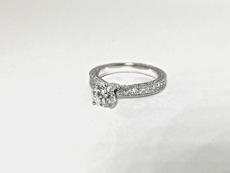 engraved engagement ring Doylestown