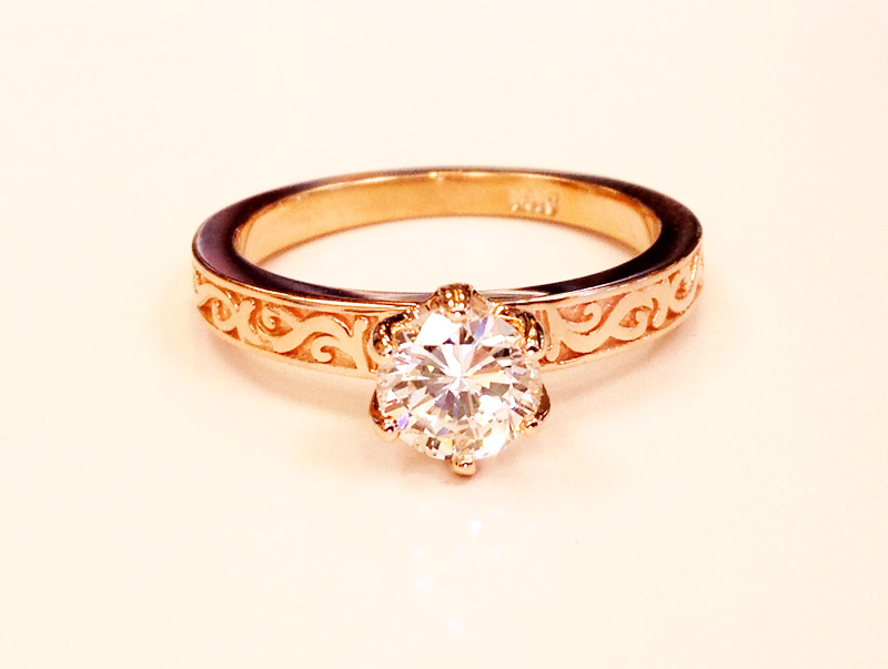 rose gold diamond ring PA