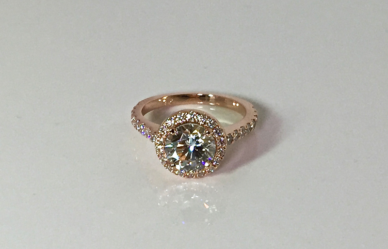 diamond halo engagement ring Bucks PA