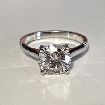 circle cut diamond engagement ring PA
