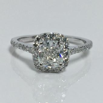 custom halo diamond ring PA