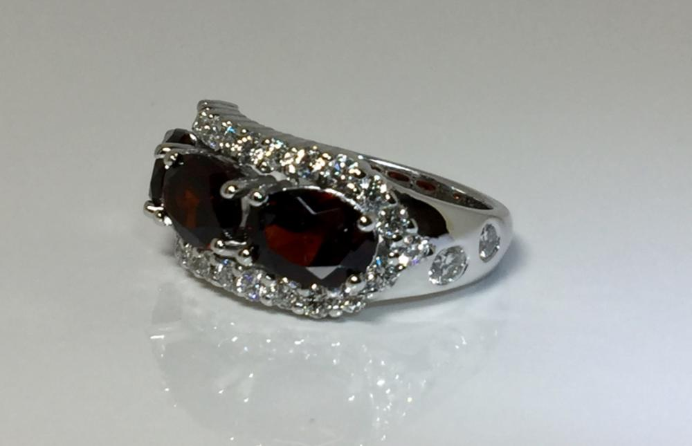 Renay Garnet & Diamond Ring