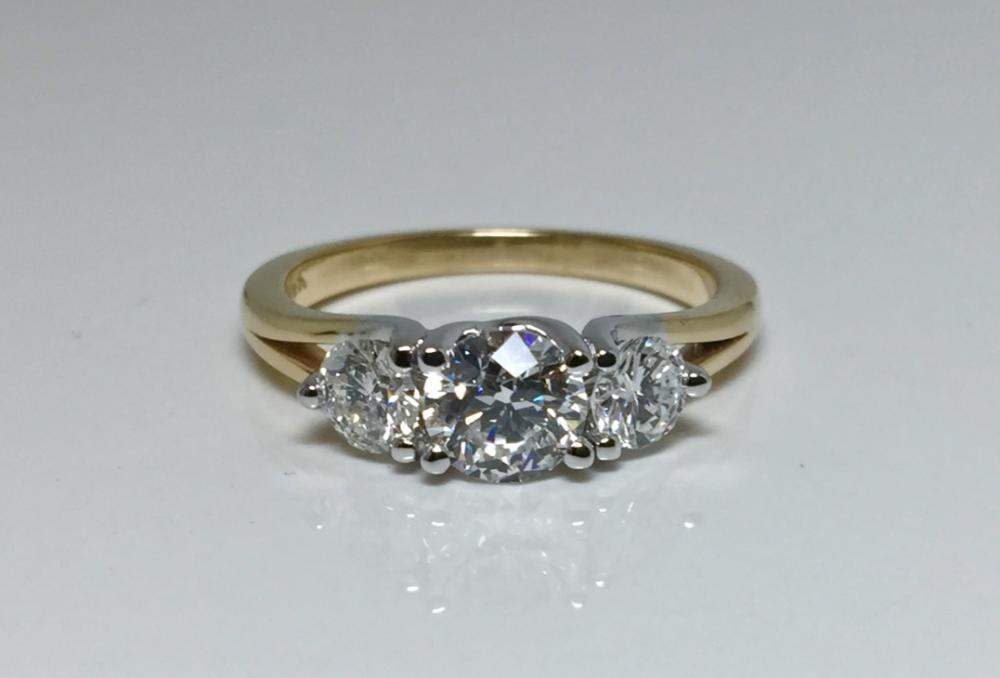White gold and diamond engagement ring