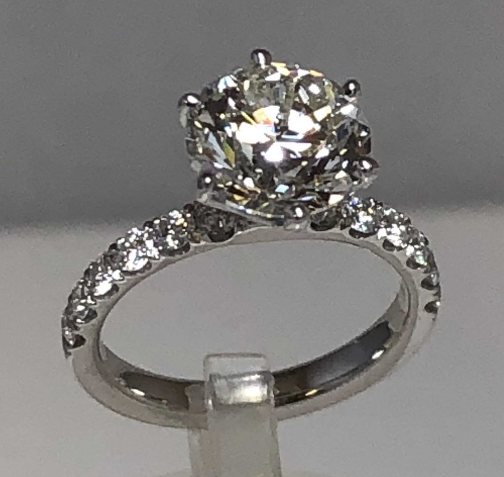 diamond engagement ring designed and made by doylestown gold exchange