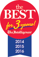 Rated The Intelligencers Best for 3 Years!